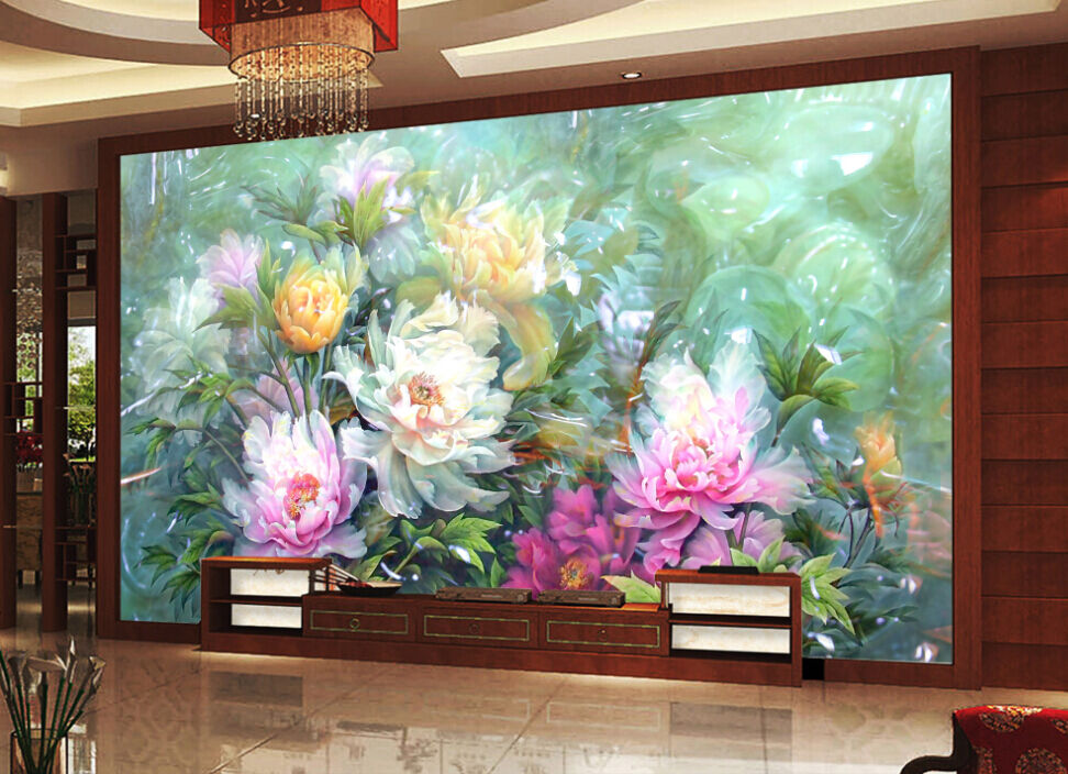 3D Romantische Blumen 667  Fototapeten Wandbild Fototapete BildTapete Familie DE