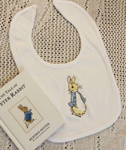 Baby Boys Peter Rabbit Bunny Bib Brand New Gift Baby Personalised Baby Shower