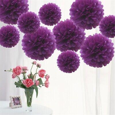 Lilac Tissue Paper Pompoms Flower Wedding Party Decoration Pom Poms