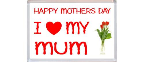 Jumbo Fridge Magnet I Love My Mum Flowers Gift Present Happy Mothers Day