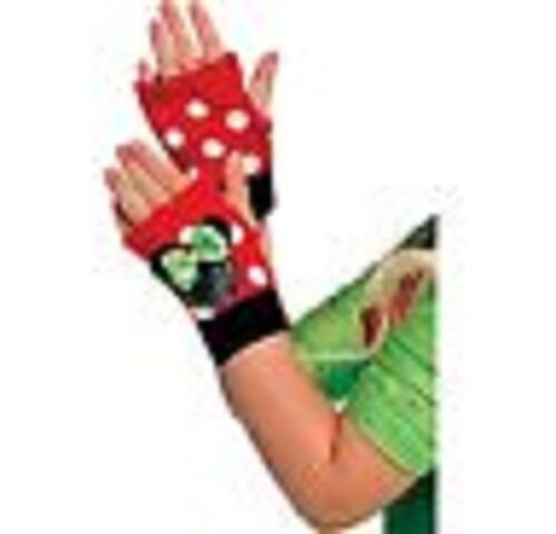 Disney Minnie Mouse Child Holiday Fingerless Gloves 1 Pair