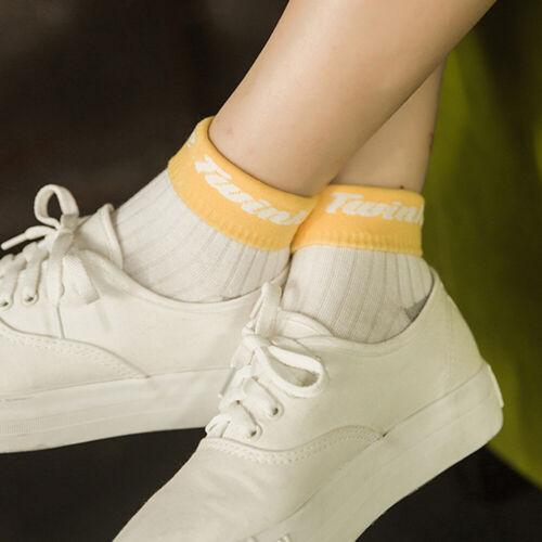 Ankle High Women Socks Letter Printed Assorted Colors Elastic Anti-slip