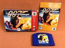 007 World Is Not Enough Nintendo 64 N64 Game Super FREE SHIP Complete CIB!