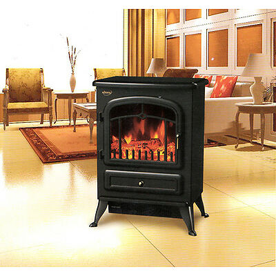 """HOMCOM 21.6"""" Free Standing 1500W Electric Fireplace Portable Adjustable"""