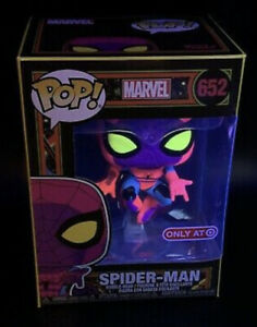 Marvel Spiderman Black light Funko POP! Shirt & Bobble Combo - ALL SIZES