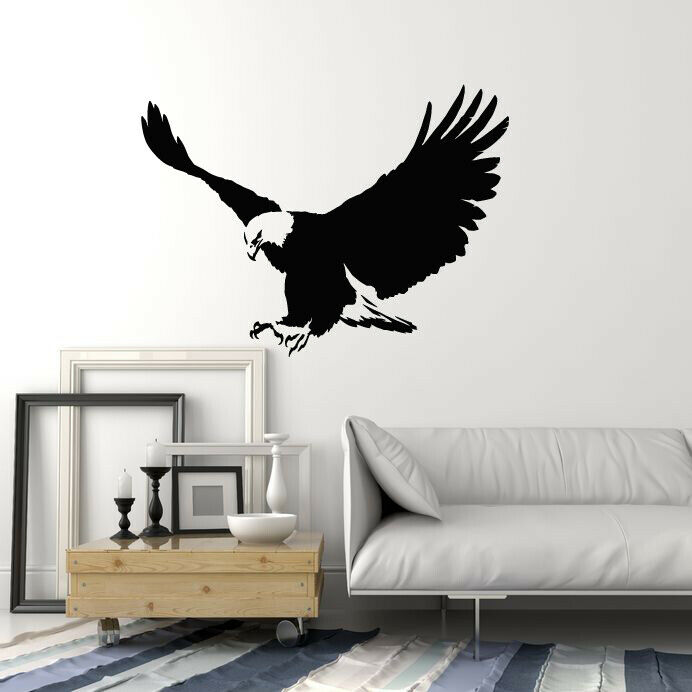 Vinyl Wall Decal Flying Eagle Tribal Bird Home Room Decor Stickers Mural (g1964)