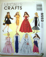 11 1/2 Fashion Doll Clothes Evening Dresses Unused Sewing Pattern 8552