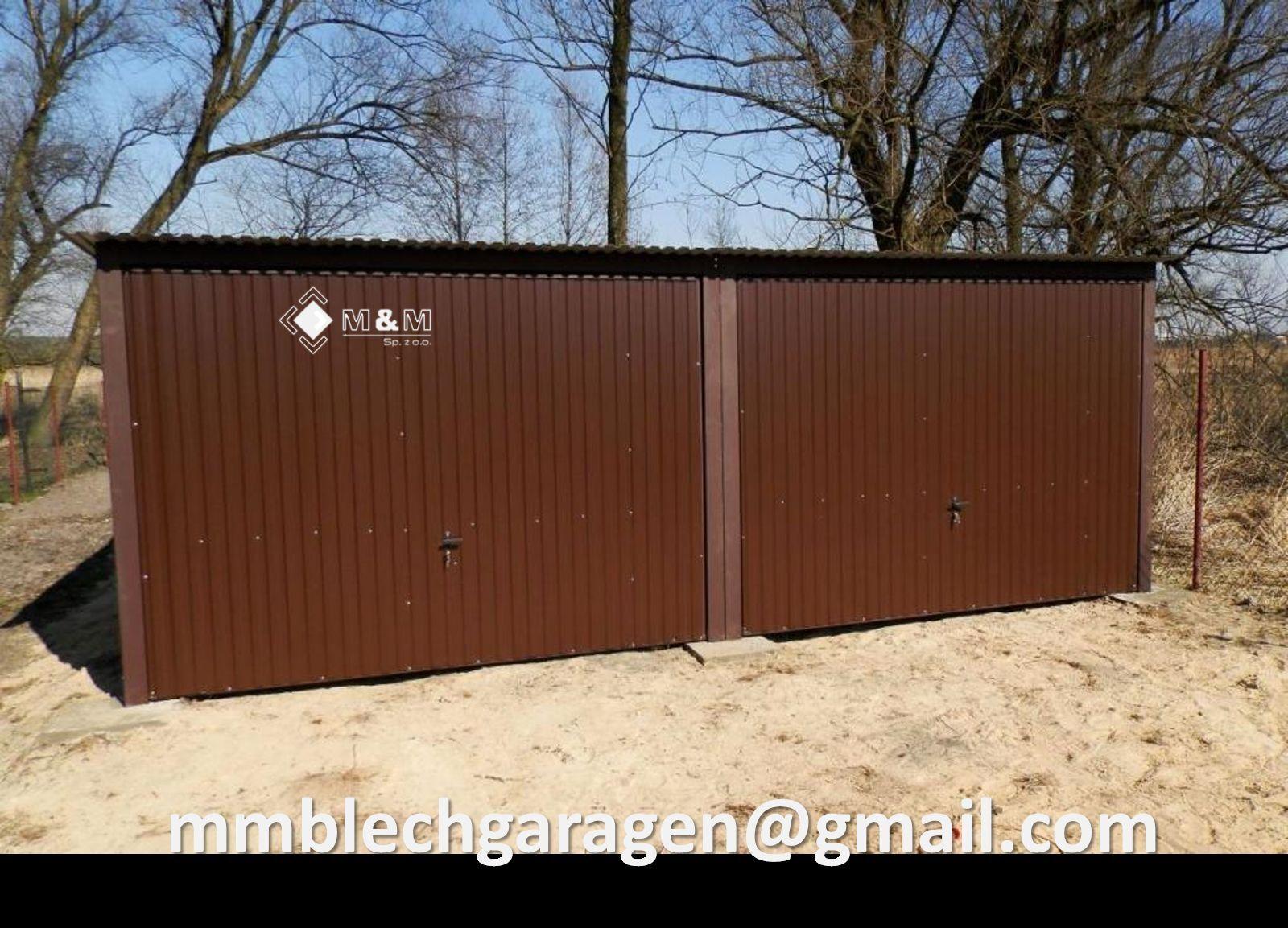 Blechgarage Blechgaragen Lager Lagerhalle Fertiggarage 6x6,01x2,14 in RAL8017