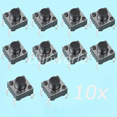 100pcs 6X6X6mm Tact Switch Tactile Push Button Switch 4 Legs 4PIN for Arduino