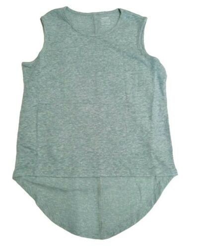 Old Navy Linen Blend Heathered Green Sleeveless Top Hi-low Girl/'s Size Small 6-7