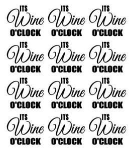 Its-Wine-O-039-Clock-Vinyl-Decal-Sticker-Wine-Glass-Mug-Kitchen-Tumbler
