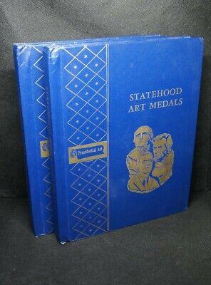 12 Statehood Art Medals In Albums - Silver & Bronze Medal / Medallions Aantrekkelijke Ontwerpen;
