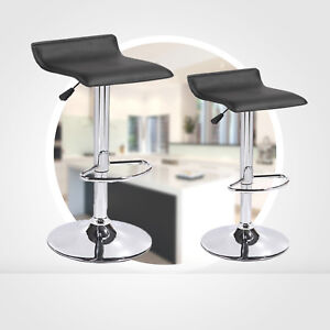 Remarkable Details About Black Set Of 2 Counter Height Swivel Seat Chrome Base Bar Stools Dinning Chairs Evergreenethics Interior Chair Design Evergreenethicsorg