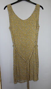George Yellow Mix Belted Soft Dress Size 12-14