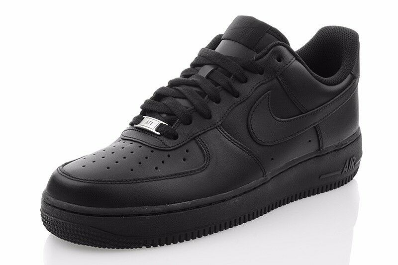 Nuevo de zapatos nike Air Force 1 zapatos caballero zapatillas de Nuevo deporte cortos negros 315122018 ad8b4a