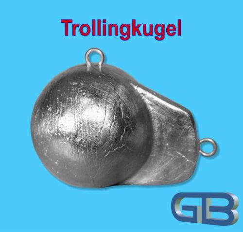 Schleppblei 1300g Trollingblei Downriggerblei Trollingkugel mit Flosse