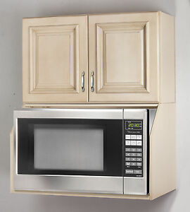 Image Is Loading Tuscany White Maple Microwave Oven Wall Cabinet Set