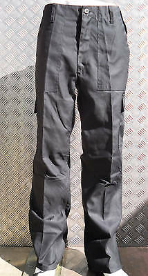"""Black Military Style Combat Cargo / Utility / Field Trousers Size 32""""-36"""" - New Weniger Teuer"""