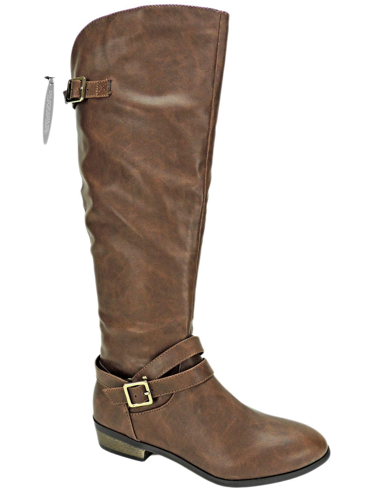 Material Girl Women's Capri Knee-High Riding Boots Cognac Size 6 M