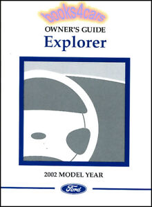 owners manual explorer 2002 ford book 02 4x4 handbook eddie bauer ebay rh ebay com ford explorer 2004 owners manual ford explorer 2004 owners manual fuse box