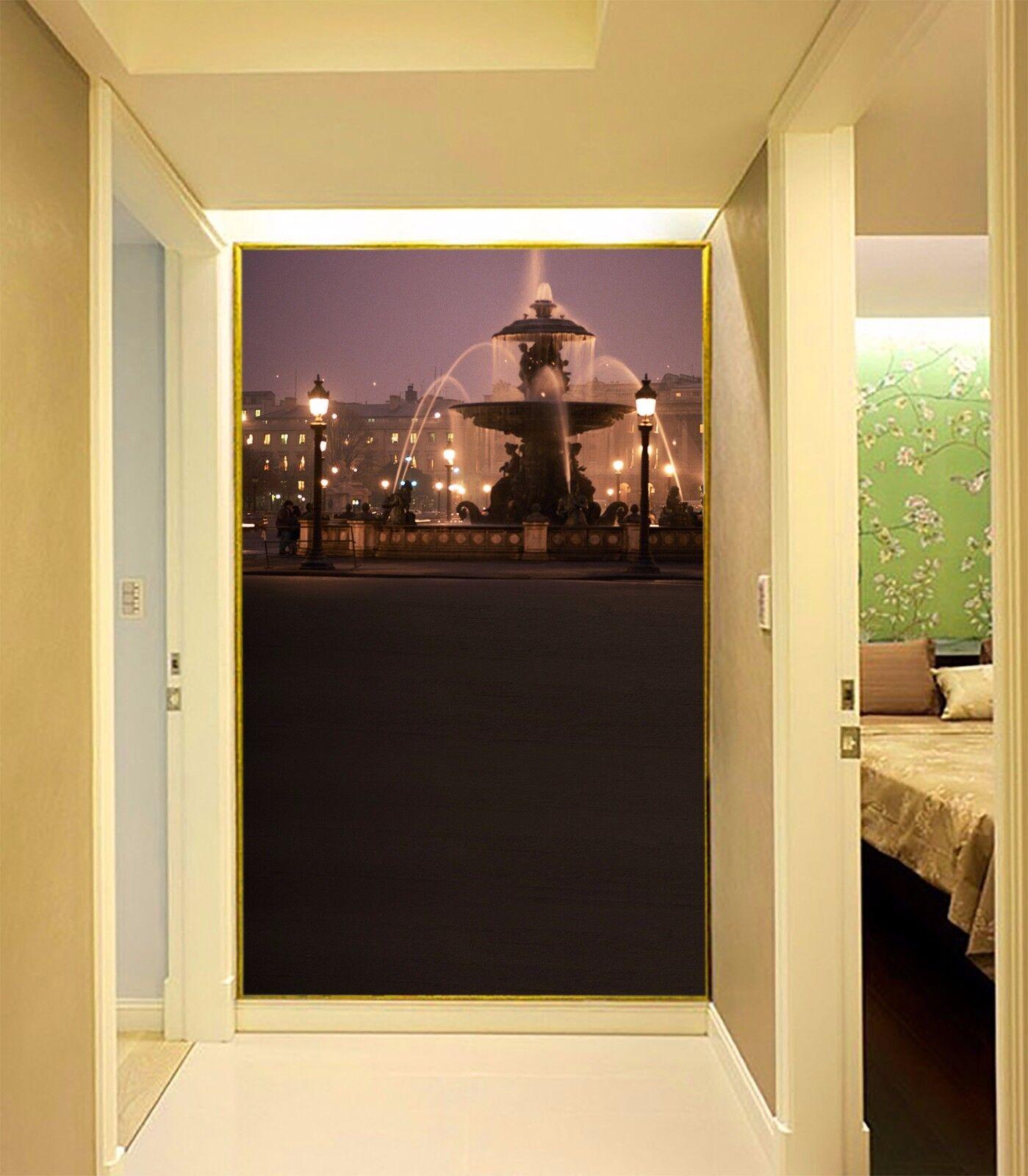 3D Brunnen Licht 753 Tapete Wandgemälde Tapete Tapeten Bild Familie DE Summer