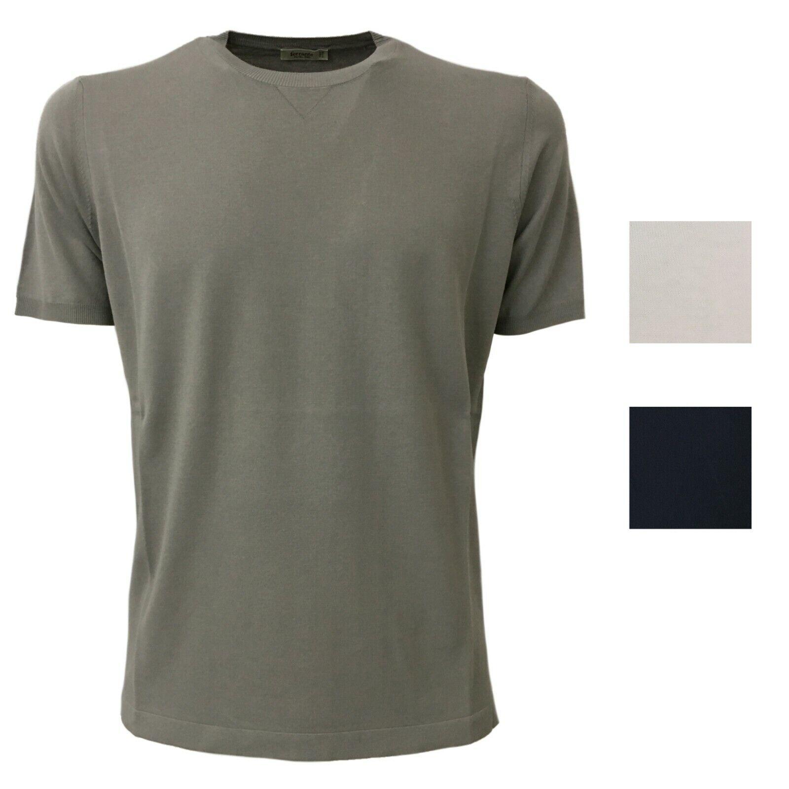 T-Shirt Herren Kurzarm FERRANTE100% Baumwolle Crepe Art 29106 Made in