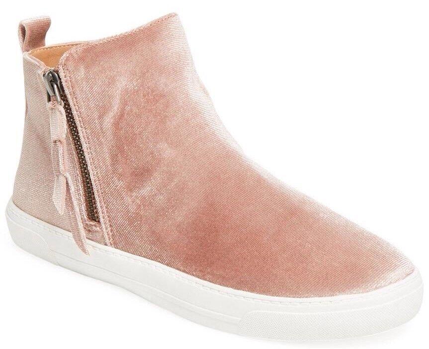 130 NEU Dolce Vita XARIA High Top Sneakers Blush Velvet Slip On Schuhes 9