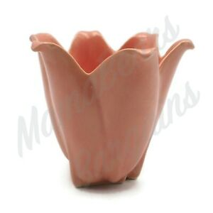 Vintage-Unsigned-Shawnee-Art-Pottery-Pink-Tulip-Flower-Pot-Planter