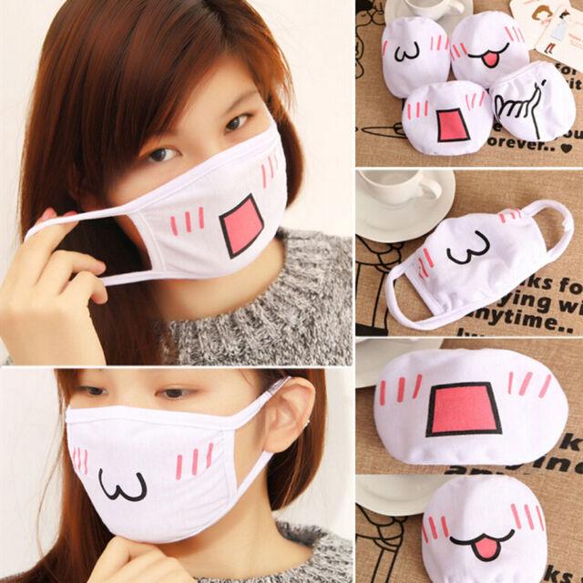 Anime Emotiction Mouth-muffle Kaomoji Anti-Dust Winter Face Mask Cute Kawaii  GA