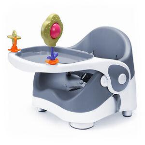 Travel-Feeding-Booster-Seat-Toddler-Highchair-Portable-Travel-High-Chair-Grey