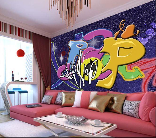 3D graffiti city 35 WallPaper Murals Wall Print Decal Wall Deco AJ WALLPAPER