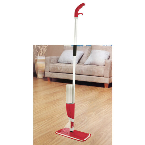 ALL SURFACE SPRAY MOP WATER SPRAYING CLEANER WITH TWO MICROFIBER CLEANING PADS