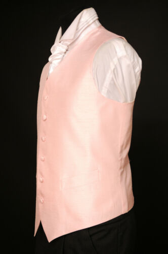 wedding // dress // suit // party Solid candy floss pink silk waistcoat W 455