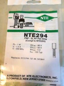 5 pieces TO-92 NTE ELECTRONICS NTE288 BIPOLAR TRANSISTOR PNP -300V