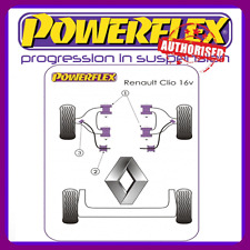 Powerflex Suspension Bush Kit for Renault Clio inc 16v (not Williams) [8 bushes]