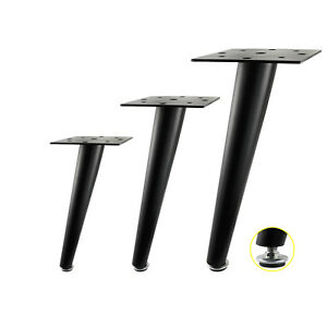 Details About Set Of 4 Adjustable Black Metal Furniture Legs Sofa Couch  Feet Height 25/30/35cm