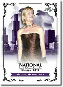 MARIEL-HEMINGWAY-2013-LEAF-NATIONAL-EXCLUSIVE-COLLECTORS-PROMO-CARD