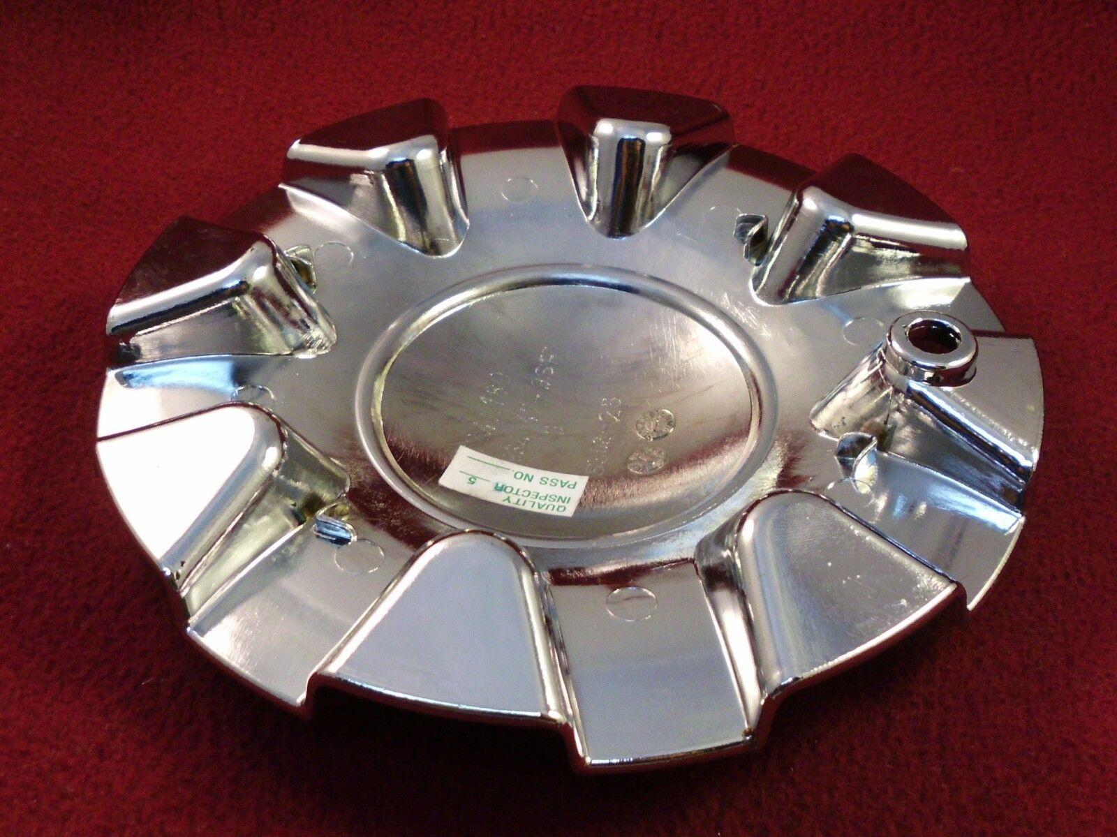 Giovanna Wheels Flat Black//Chrome Custom Wheel Center Cap # 124L180 ONE CAP