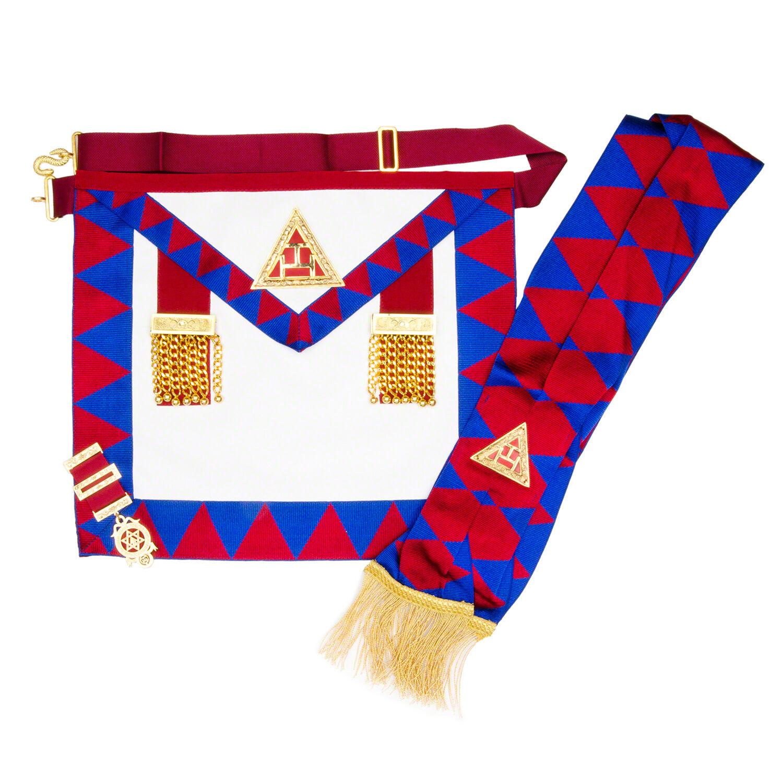 White lambskin apron - Masonic Lambskin Royal Arch Principals Apron Sash Jewel Gloves Ra Chapter