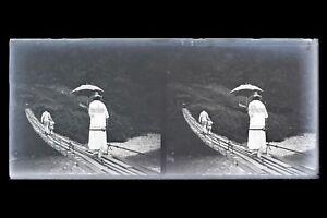 Indochine-Viet-Nam-France-Colonie-Photo-M9-Plaque-de-verre-Stereo-NEGATIVE