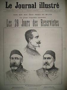 CHEFS-DES-ARMeES-SERBES-ET-TURQUES-TIMOK-28-JOURS-DES-RESERVISTES-GRAVURES-1876