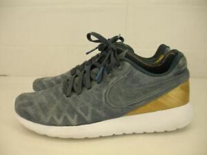 dfd33f804e71 Mens 8 41 Nike Roshe Tiempo VI FC Blue Fox Gold Running Shoes ...