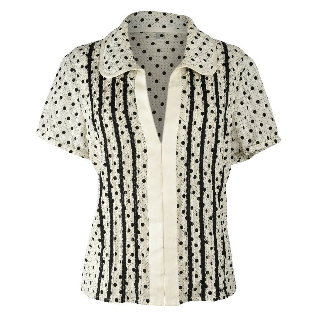 Marc Jacobs Top schwarz   Bone Polka Dot Silk 12