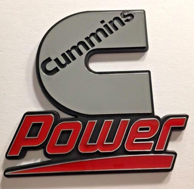 Cummins Turbo Diesel Emblem Decal for Dodge Ram MOPAR Small 1X Chrome Red