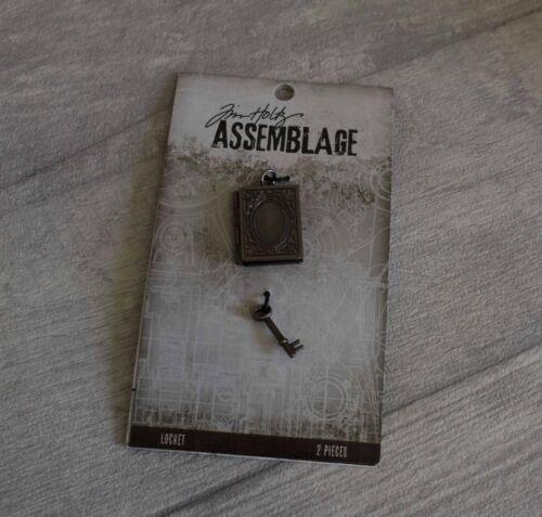 Tim Holtz-Ensamblaje-Libro /& Key medallón que se puede llenar