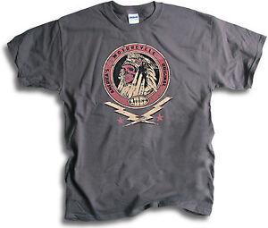 Indian-America-039-s-Motorcycle-Original-Skull-Stars-Biker-Men-Charcoal-Grey-T-Shirt