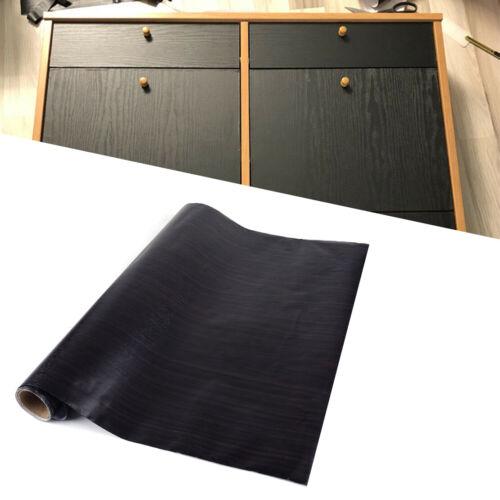 Stickers Self-adhesive Wall Furniture Vinyl Black Wood Grain Pattern Paper Film