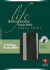 Life Application Study Bible NLT, Large Print Tutone (2014, Imitation...