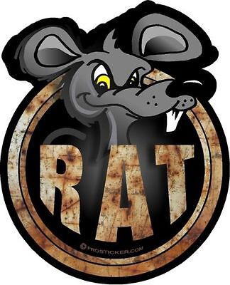 "4/""x 7/"" Phantom Series Rat Rod /""Rat/"" Decal Sticker ProSticker 731 One"