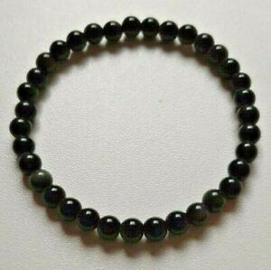 BRACELET-PIERRES-POLIES-OBSIDIENNE-OEIL-CELESTE-lithotherapie-protection-6mm-AA